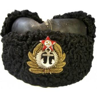 Soviet WW2 winter fur hat. Espenlaub militaria