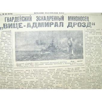WW 2 Red Baltic Fleet newspaper, 16 February/1943. Espenlaub militaria