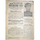 WW 2 Red Baltic Fleet newspaper, 16 February/1943