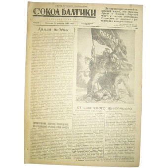 WW2 pilots  newspaper Baltic Falcon, 23 February/1945. Espenlaub militaria