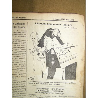 WW2 pilots newspaper Baltic PILOT  5 January,1945!. Espenlaub militaria