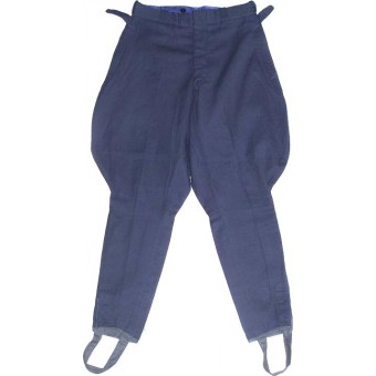 Blue cotton trousers for military officers schools.. Espenlaub militaria