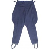 Blue cotton trousers for military officers schools.