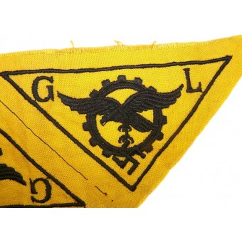 Breast eagle for Technical personnel of Luftwaffe with inscription G.L. Espenlaub militaria