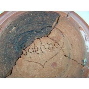 German ceramic ash-tray souvenir from Wolchow front. Espenlaub militaria