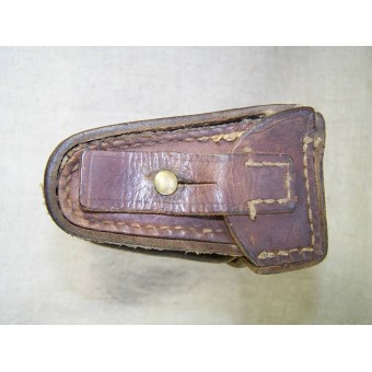 Imperial Russian ammo pouch, leather. Espenlaub militaria