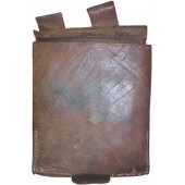 Imperial Russian entrenching tool leather pouch dated 1915