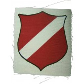 Latvian volunteer's printed sleeve shield