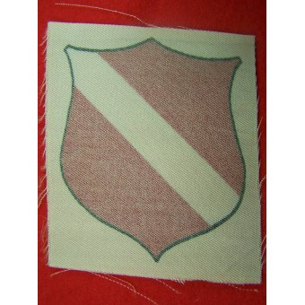 Latvian volunteers printed sleeve shield. Espenlaub militaria