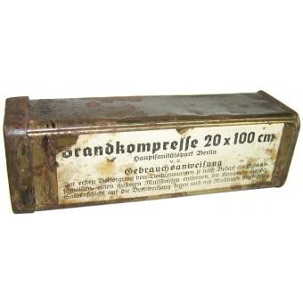 WW2 German band with its original metal box package. Espenlaub militaria