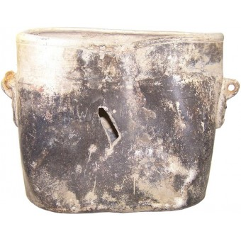 WW2 german mess tin, battle damaged!. Espenlaub militaria