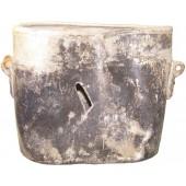 WW2 german mess tin, battle damaged!