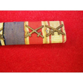 3Rd Reich Ribbon bar with WW1 and WW2 medals bars.. Espenlaub militaria