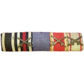 3Rd Reich Ribbon bar with WW1 and WW2 medals bars.