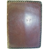 Communists party membership ID books leather cover, Estonian branch.