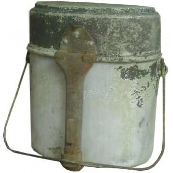 WW2 Latvian SS volunteer aluminum mess tin. Espenlaub militaria