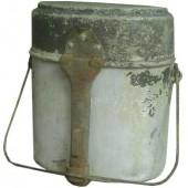 WW2 Latvian SS volunteer aluminum mess tin