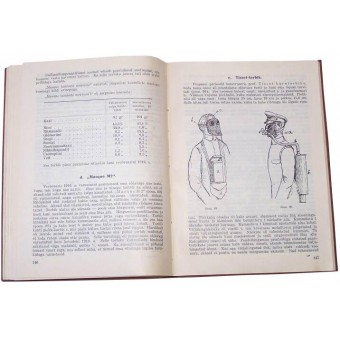 Battle Gas - manual/book.  Gasmasks, battle gas bombs, protect suits, horse gasmasks, tactic... 1928 year.. Espenlaub militaria