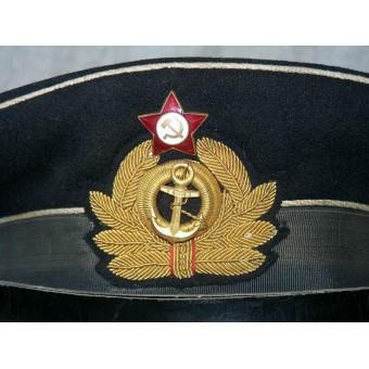 WW2 Soviet officers navy cap made in Germany in 1945. Espenlaub militaria