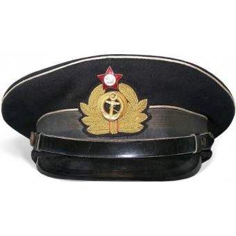 WW2 Soviet officers navy cap made in Germany in 1945. Espenlaub militaria
