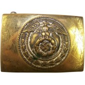 Early small size HJ Hitler Jugend brass buckle