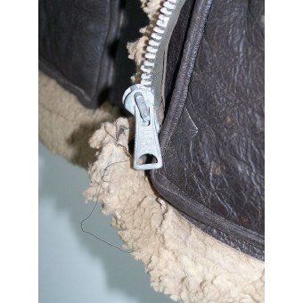 Lend-Lease sheepskin flyer jacket used by Red Army flyer. Espenlaub militaria