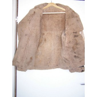 Lend-Lease sheepskin flyer jacket used by Red Army flyer. Espenlaub militaria