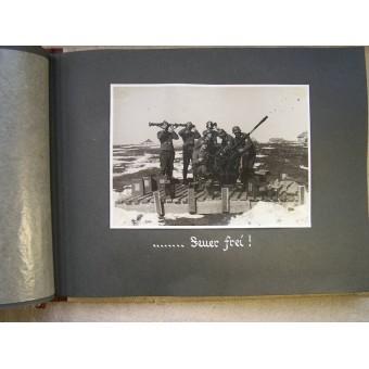 Lutwaffe Flak presentation album to the chief of kompanie of 1./(H) 23.(Pz) unit. Espenlaub militaria