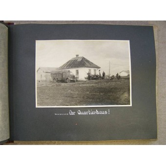 Lutwaffe Flak presentation album to the chief of kompanie of 1./(H) 23.(Pz) unit. Espenlaub militaria