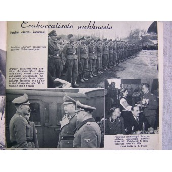 German WW2 propaganda magazine PILDILEHT Estonian language, 1944. Espenlaub militaria