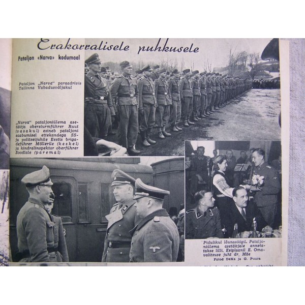 German WW2 propaganda magazine PILDILEHT Estonian language, 1944- Paper  Items