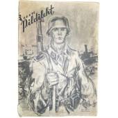 German WW2/Waffen SS propaganda magazine, printed in Estland, 1944.