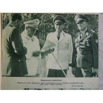 German WW2/Waffen SS propaganda magazine Pildileht printed in Estonian, 5/1943. Espenlaub militaria