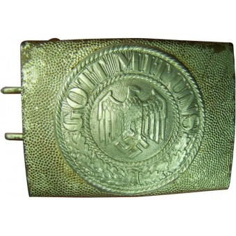 3rd Reich Heeres parade 2 piece, steel with alu center buckle. Espenlaub militaria