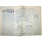 10 days before Finnish winter war Pravda Soviet newspaper from 18 November 1939 year