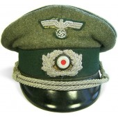 Heer Pionier, mid war officer's visor hat with black piping.