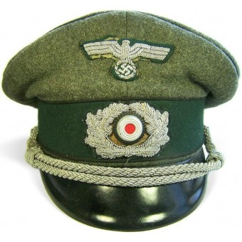Heeres Pionier, mid war officer's visor hat with black piping.. Espenlaub militaria