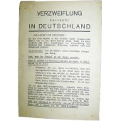 Soviet Leaflet for German troops Verzweiflung herrscht in Deutschland
