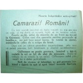 Soviet Leaflet for Romanian troops. Kurland Pocket!