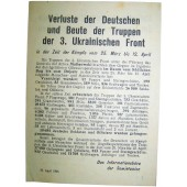 Soviet Leaflet for German troops Nr 855, 17 April 1944