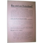 Soviet Leaflet for German troops. Was wird aus Deutschland?