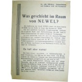 ww2 Soviet Leaflet for German troops Was geschieht im Raum von Nevel