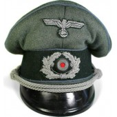 Third Reich, private purchased visor hat for Heeres Nachschub or Kraftfahr Truppe