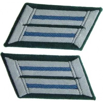 Original WW2 Wehrmacht officers collar tabs for administration of Wehrmacht. Espenlaub militaria