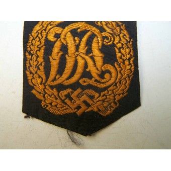 3rd Reich DRL sport badge, machine embroidered BeVo version. Espenlaub militaria