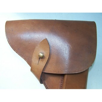 DDR made early postwar leather holster for TT pistol. Espenlaub militaria