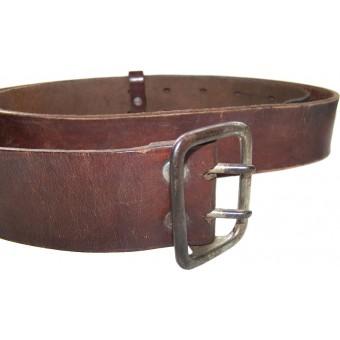 Early NSDAP member brown leather belt. Espenlaub militaria