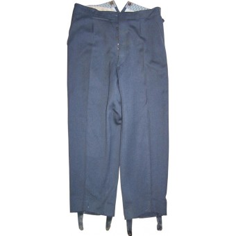 Early walkout/dress white piped infantry trousers