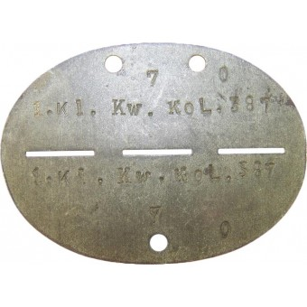 Id disc for the serviceman of Kleine Kraftwagen Kolonne. Espenlaub militaria