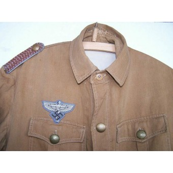 NSFK tunic. Short brown NSDAP shirt, with NSFK eagle